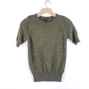 RIVER ISLAND Metallic Shimmer Sweater Top Sparkle